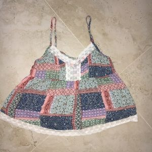 NWOT Hollister Red, Green, and Blue Camisole